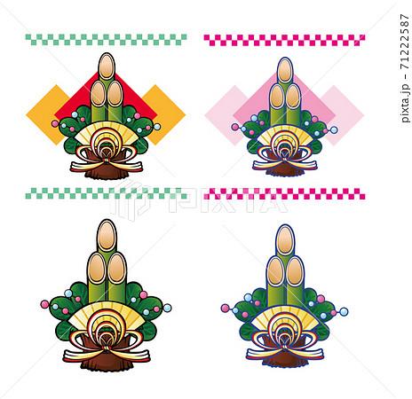 門松飾り 71222587