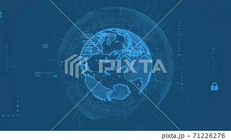 グローバルネットワーク  背景CG 71226276