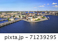 Aerial view of Stockholm's Old Town (Gamla Stan) and surrounding skyline, Sweden 71239295