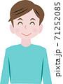 笑顔の男性 71252085
