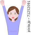 バンザイをする女性 71252091