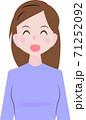 笑顔の女性 71252092