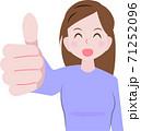 グッドをする女性 71252096