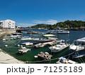 【広島県】尾道の海岸の風景 しまなみ海道の新尾道大橋方面を望む 71255189