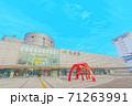 [アニメ風] 北海道 函館 函館駅周辺の風景 71263991