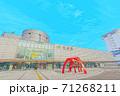 [アニメ風] 北海道 函館 函館駅周辺の風景 71268211