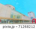 [アニメ風] 北海道 函館 函館駅周辺の風景 71268212