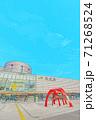 [アニメ風] 北海道 函館 函館駅周辺の風景 71268524