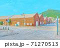 [アニメ風] 北海道 函館 金森赤レンガ倉庫周辺の風景 71270513