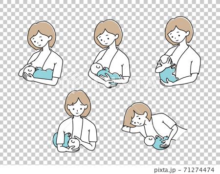 哺乳姿勢嬰兒抱抱方式 71274474