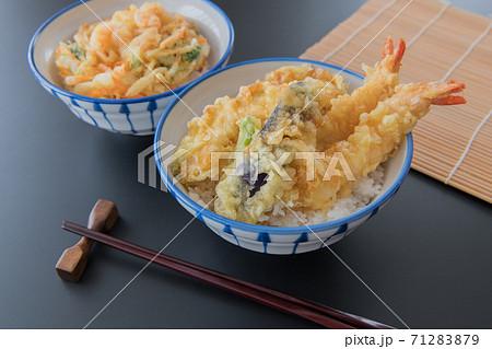 天丼 かき揚げ丼 丼物イメージ素材 71283879