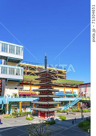 【神奈川県】海老名駅前に広がるビナウォークの七重塔 71304651