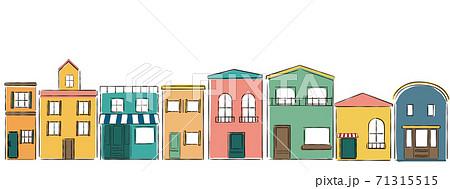 パリの街並みのような建物 71315515
