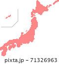 日本地図 ドット 71326963