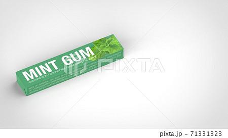 mint gum left 3d rendering 71331323
