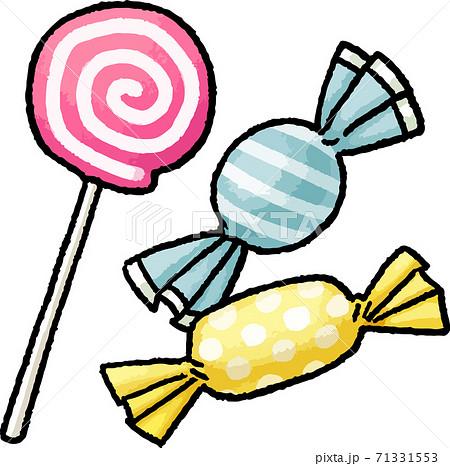 【食べ物イラスト素材】 キャンディの手描きベクターイラスト 71331553