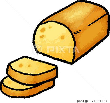 【食べ物イラスト素材】パウンドケーキの手描きベクターイラスト 71331784