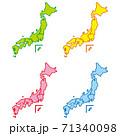 日本地図 71340098
