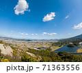 嶽山(香川県三木町)からさぬき市方面を望む 71363556