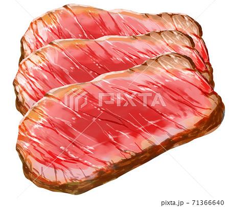 ステーキ肉3枚重ね 71366640