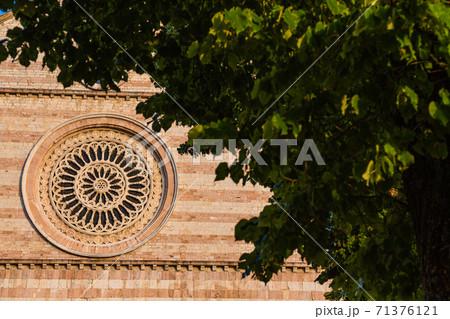 イタリア アッシジのサンタ・キアラ聖堂のファサード 71376121
