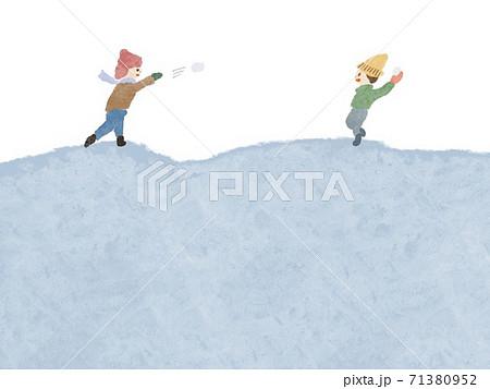 雪合戦の背景 71380952