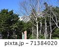 小田越え登山口からの初冠雪の早池峰山 71384020