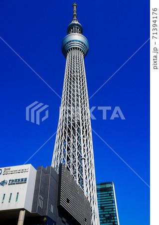 東京スカイツリーをしたから望む風景写真 71394176