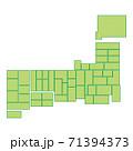 日本地図 71394373