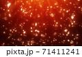 クリスマスイメージ 雪の結晶 赤背景 71411241