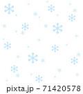 シンプルな雪の結晶のエンドレスパターン 71420578