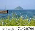 大泊港方見える春の津久見島 (大分県臼杵市) 71420799
