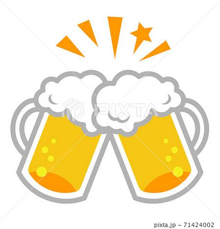 生ビールの乾杯イラストイメージ 71424002