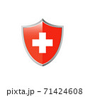 medical cross and shield icon 71424608