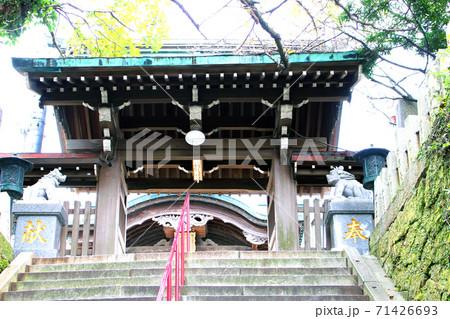 石段の下から見上げた鷲尾愛宕神社 71426693