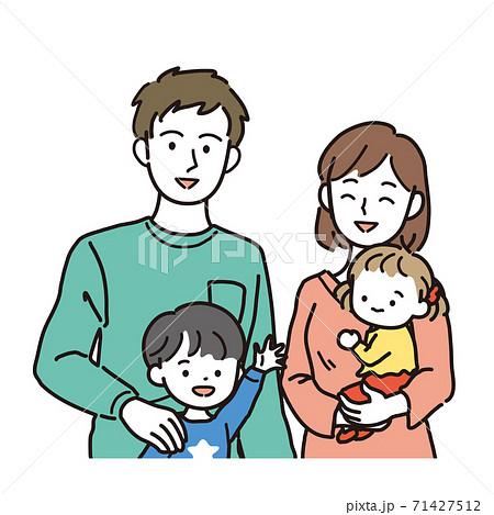 核家族のバストアップイラスト 71427512