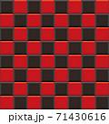 シンプルなタイルのエンドレスパターン(赤と黒のツートン) 71430616