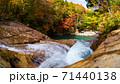 ダム湖に沈むことになった渓流 赤滝 秋田県 71440138