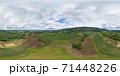 360 panorama by 180 degrees angle seamless panorama of aerial top view of green Mountain hill. Nature landscape background in Phetchabun, Thailand. 71448226
