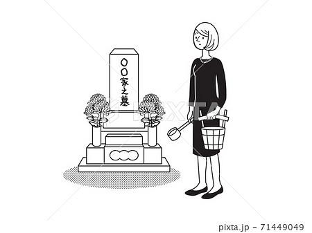 人物 女性 冠婚葬祭 71449049