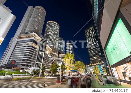 名古屋駅前 イルミネーション JRセントラルタワーズ JRゲートタワー JPタワー名古屋  大名古屋 71449117