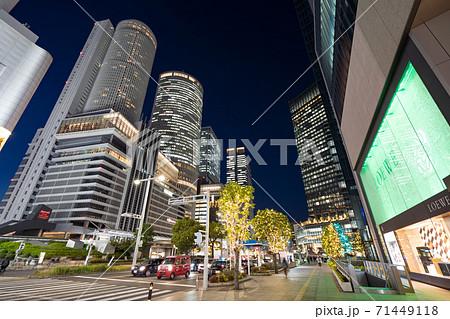 名古屋駅前 イルミネーション JRセントラルタワーズ JRゲートタワー JPタワー名古屋  大名古屋 71449118