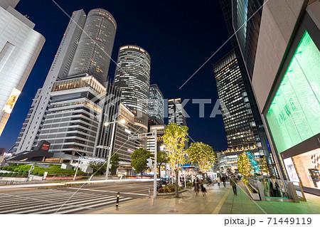 名古屋駅前 イルミネーション JRセントラルタワーズ JRゲートタワー JPタワー名古屋  大名古屋 71449119