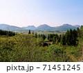 飯田高原と九重連山の風景 (大分県九重町) 71451245