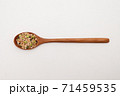 Wooden spoon with Miscellaneous grains  71459535