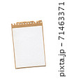 craft paper blank notebook on white 71463371