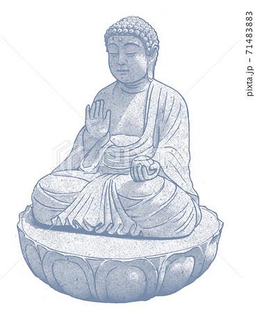 御影石の仏像 71483883
