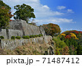 岡城と紅葉 71487412
