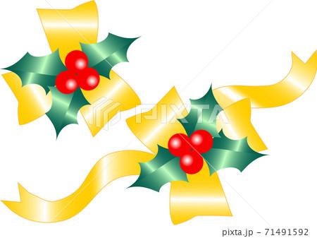 クリスマスイメージのリボン 71491592