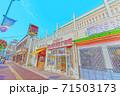 [アニメ風] 北海道函館 函館朝市周辺の風景 71503173